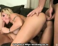 Blonde Anal Fuck Threesome - scene 5