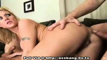 Blonde Anal Fuck Threesome - scene 6