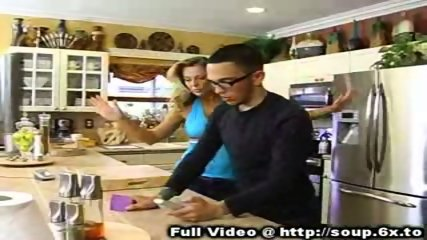 MILF Fucked In Kitchen - scene 1