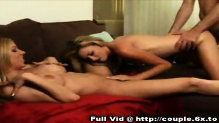 Couple And Teen On Sofa - scene 4