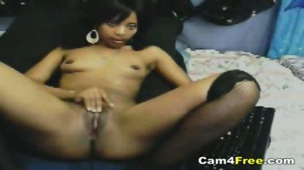 Sexy Black Teen Rubs Her Clit - scene 7