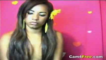 Sexy Black Girl Masturbates On Webcam - scene 1