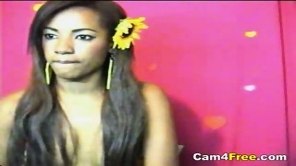 Sexy Black Girl Masturbates On Webcam - scene 2