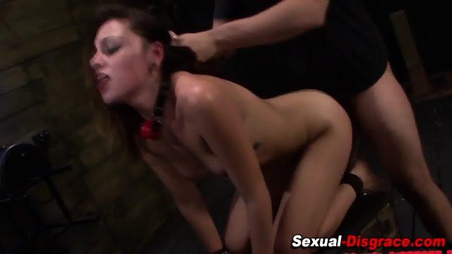 Hardcore bdsm slut sucks