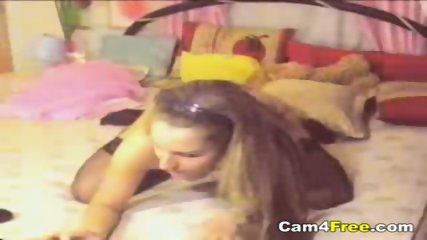 Cute Teen Stripping On Her Webcam - scene 1