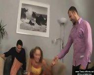 Amazing Russian threesome - scene 1