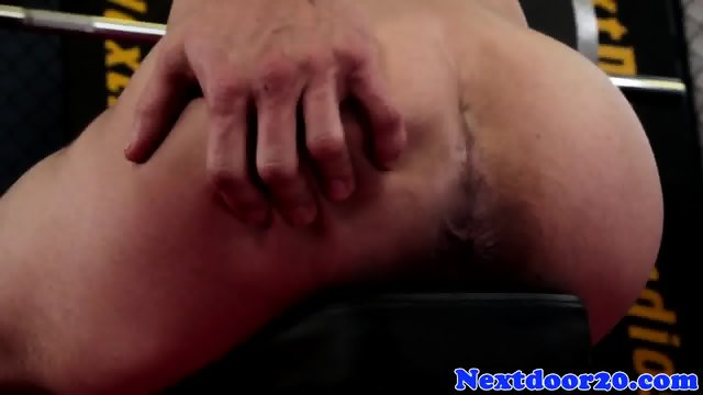 Solo stud working out before jerking off - scene 8