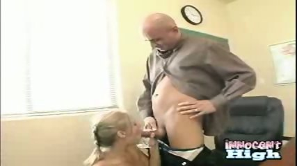 New student Allison showing appreciation for the deans help by sucking his cock empty - scene 7