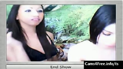 Two hot Asian Shemales Suck Cock on Webcam! - scene 3