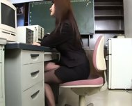 Busty Asian Secretary - scene 2
