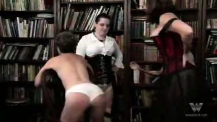 Chubby mature group spanking - scene 8
