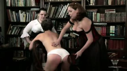 Chubby mature group spanking - scene 9