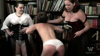 Chubby mature group spanking - scene 10