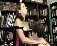 Chubby mature group spanking - scene 2