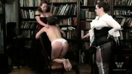 Chubby mature group spanking - scene 3