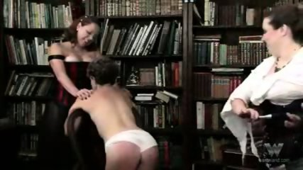 Chubby mature group spanking - scene 5