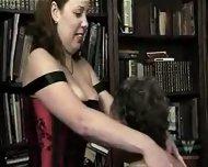Chubby mature group spanking - scene 6