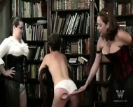 Chubby mature group spanking - scene 7