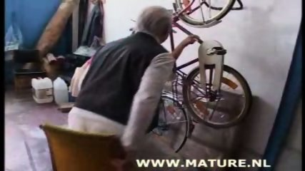 Old Man doing Teen after showing off a bike - scene 1