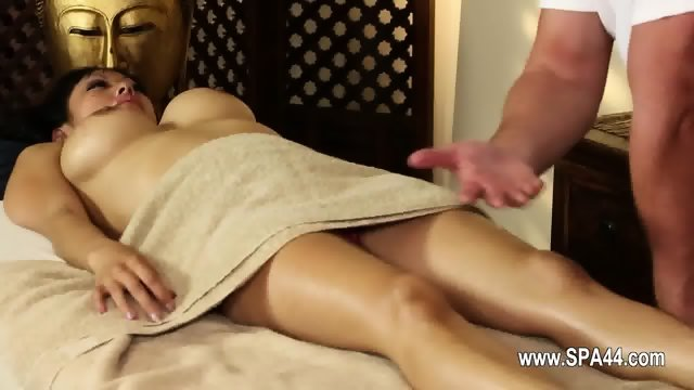 fetching busty babes in secret massage saloon
