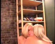 2 Blonde lesbians having fun Part 2 of 8 - scene 6