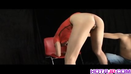 Natsumi Mitsu Japanese Milf In Red Dress Spreads Hairy Pussy For Masturbation With A Small Vibrator And Then Pussy Fingered And Creamed In Cam Close Up - scene 6