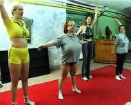 BBW Gym Orgy - scene 1