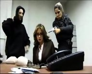 Sexy babes robbing bank - scene 7