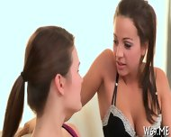 Lesbians moan from orgasms