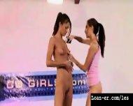 Teen Amateur Lesbians Oil Orgy - Hot! Part 1 - scene 6