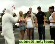Easter Bunny Sex during Egg Hunt - scene 1
