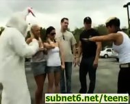 Easter Bunny Sex during Egg Hunt - scene 2