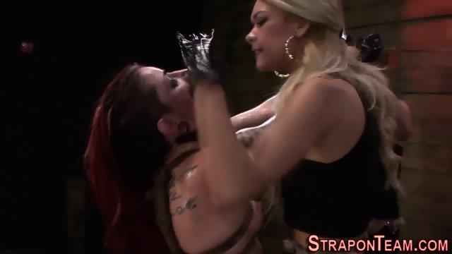 Mistress toys tied slave