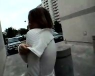 hot girl flashing around town - scene 3
