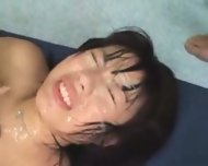 Japanese girl big tits bukake - scene 11