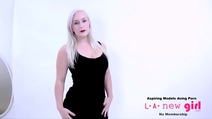CUTE BLONDE IS FUCKED AT PHOTOSHOOT AUDITION - scene 5