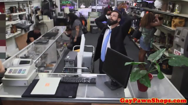 Bearded pawnshop amateur cockridden for cash - scene 1