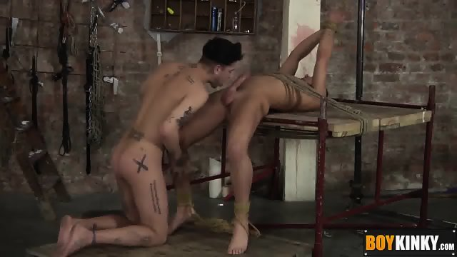 Mickey loves fucking that tight hole after steamy rimjob