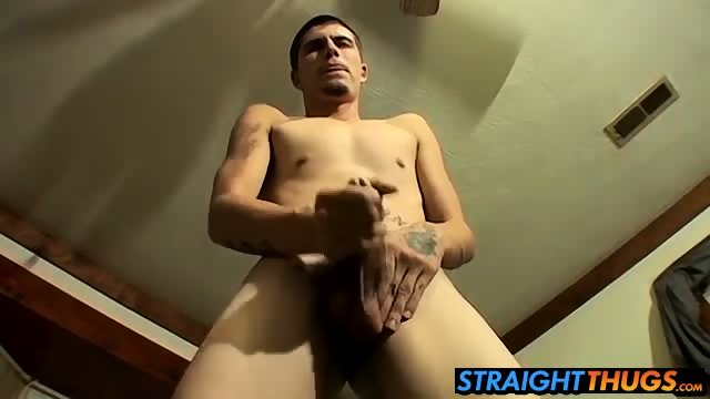Horny Bently loves to jerk his hard dick on futon bed