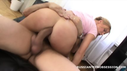 Russian Teen Fucked Hard In Ass