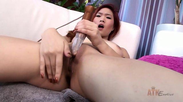 Asian Girl Masturbates