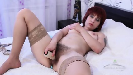 Hairy Mommy With Stockings - scene 12