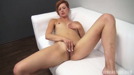 Pretty Redhead Takes Cock At The Casting
