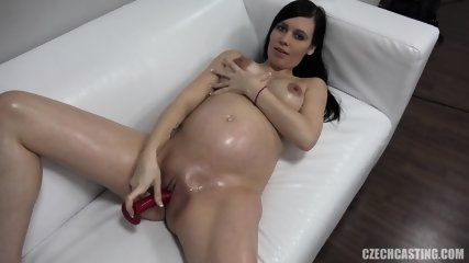 Pregnant Babe At The Casting