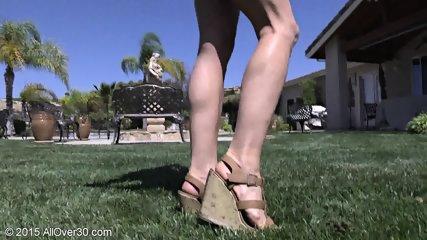 Mature Blonde At The Pool - scene 2