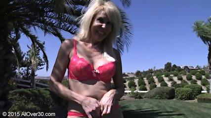Mature Blonde At The Pool - scene 4