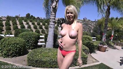 Mature Blonde At The Pool - scene 7