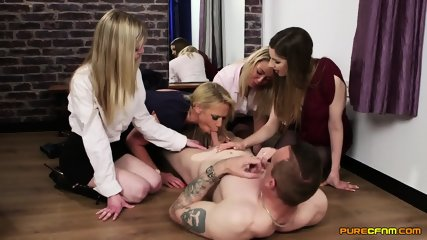 Horny Blondes Play With Cock - scene 6
