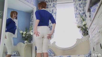 Vintage Redhead With Stockings And Panties - scene 1