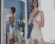 Vintage Redhead With Stockings And Panties - scene 7